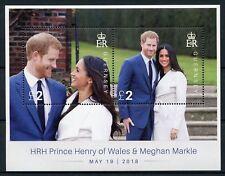 Guernsey 2018 MNH Prince Harry & Meghan Royal Wedding 2v M/S Royalty Stamps