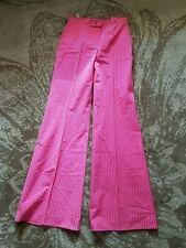 Boule de neige ,Italian  designer wide leg trousers, UK 6, pink white stripe