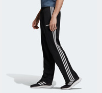 Adidas Track Pants Mens Small Authentic Black Essentials 3 Stripes Training Gym