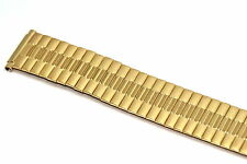 18-22MM GOLD STAINLESS STEEL TWIST O FLEX EXPANSION WATCH BAND STRAP FITS SEIKO