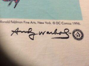 Andy Warhol DC Comics XL T-shirt 1996 Warhol Foundation for the visual arts.