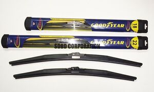 1992-1996 Eagle Summit Wagon Goodyear Hybrid Style Wiper Blade Set of 2