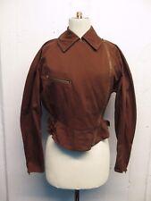 Vintage Alaia Signature Brown Cotton Cafe Racer Jacket Sz 6