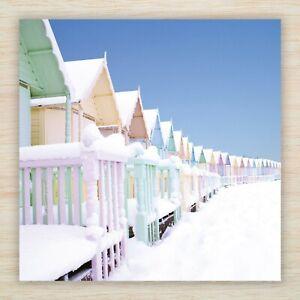 "Christmas Cards & Packs - ""Beach Huts in Snow"" Coastal Winter Seaside FREEPOST"