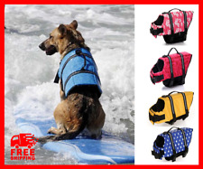 Life Jacket Dog Pet Vest Swimming Safety Preserver Reflective Saver Adjustable