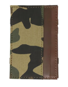 J.Crew Men's - NWT - Camo/Camouflage Patterned Fabric Leather Magic Wallet