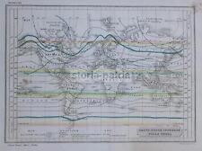 CLIMATOLOGIA TERRESTRE_ISOTERME_PLANISFERO_ANTICA CARTOGRAFIA_AMERICA_EUROPA_800
