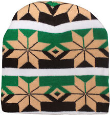 Colorful Geometric Toque / Winter Hat, Breathable, Fits Under Helmets & Hoods