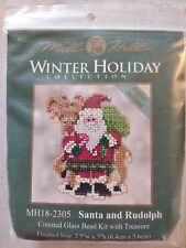 Lot520 Mill Hill Winter Holiday Collection Santa And Rudolph Cross Stitch Kit