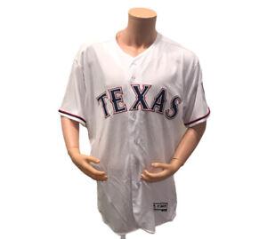 Majestic Flex Base MLB Texas Rangers Stitched Button Down Jersey Size 52 Men New
