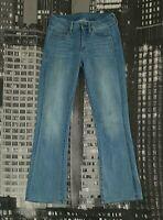 G-STAR RAW Damen Jeans W25 L30 hosengröße 34 Modell 3301 MID SKINNY BOOTCUT WMN