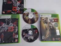 WWE 2012 and 2013 Xbox 360 12 No Manual 13 Complete Tested Wrestling Video Game