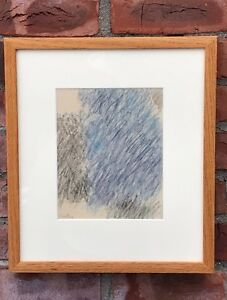 Original Abstract Expressionist Painting On Paper By Carl Holty. C1950's. Signed