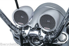"Kuryakyn Road Thunder MTX Chrome Sound Pods for Motorcycles w/ 7/8"" & 1"" Bars"