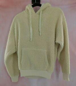 American Eagle Sherpa Hoodie Sweatshirt Sweater M Pockets Hooded