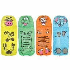 New Kids Animal Sleeping Bag Sleepover Jungle Elephant Crocodile Tiger Giraffe