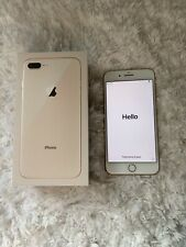 Apple iPhone 8 Plus-64GB-Gold-with Apple headphones & glass screen protector