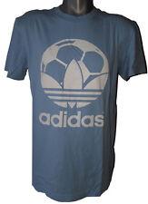 WM Country T-Shirt Adidas unifarben Original hellblau Größe M Fussball Logo