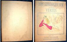 The Stronger Sex as seen by Vertes, text by Janet Flanner