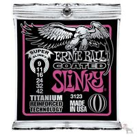 Ernie Ball 3123 Coated Super Slinky Titanium Electric Guitar Strings 9-42