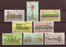 Hungary, Transport Museum, Set of 8, Cancelled to Order, hinged, 1957, OLD
