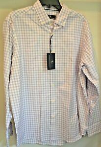 NWT Hart Schaffner Marx Size Large Men's Long Sleeve Button Down White / Purple