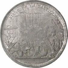 [#67139] FRANCE, History, End of Monarchy, Medal, EF(40-45), Andrieu, Tin, 80