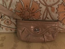 Marc By Marc Jacobs Patent leather Wristlet Clutch Small Taupe Bag