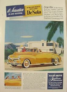 1941 DeSoto Custom Convertible Coupe Sensation In Any Setting Print Ad