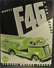 1938 GMC F-46 COE Truck Brochure Folder Cab Over Engine Excellent Original 38