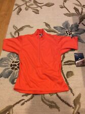 Bellwether CoolMax Cycling Jersey Shirt Mens Small S Short Sleeve Orange NEW NWT