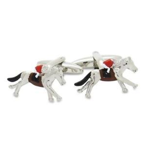 Racing Horses with Jockey (Colour) Cufflinks