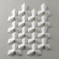 *TREFOIL* 3D Decorative Wall Stone Panels.ABS Form Plastic mold for Plaster