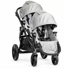 Baby Jogger 2016 City Select Double Stroller in Silver on Black Frame