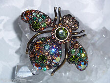 Color Bee Pin / Brooch Gorgeous New Joan Rivers Giant Multi