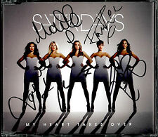 THE SATURDAYS - MY HEART TAKES OVER / SO STUPID 2011 UK AUTOGRAPHED CD SINGLE