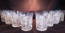 Matching Set of Eight (8) ABCG Tumblers Monarch Pattern - attributed to J. Hoare