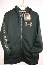 NWT UNDER ARMOUR MENS STORM HUNTING JACKET HOODIE GREEN REALTREE CAMO LOGO M $85