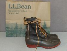 "NEW LL BEAN 8"" Bison Leather Bean Boots Winter Snow Women's Size 9 M"