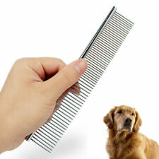1X New Dog Grooming Comb Stainless Steel Pet Dog Cat Hair Shedding Rake Mat Tool