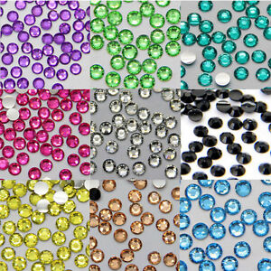 Hot Selling 1000Pcs 3mm DIY Facets Resin Rhinestone Gems Flat Back Crystal Beads