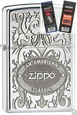 Zippo 24751 american classic Lighter with *FLINT & WICK GIFT SET*