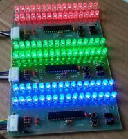 Adjustable Display Pattern LED VU Meter Level Indicator 16 LED Dual Channel RGB
