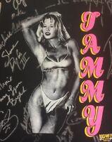 Ecw Orginal Signed Xl Tammy Sytch T Shirt Sunny Wwf 20+ Autographs One Of A Kind