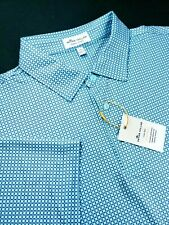 Peter Millar Summer Comfort Check Knots Printed Stretch Polo Shirt Crown Sport