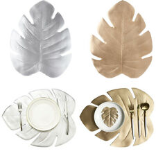 Artificial Monstera Leaves Tropical Palm Leaves Placemat Table Decoration