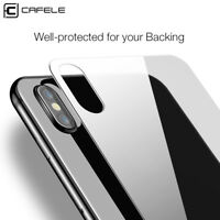 For iPhone X Cafele Back Rear Tempered Glass Screen Protector Film Cover Guard