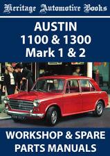 AUSTIN 1100 & 1300 Mark 1 & 2 WORKSHOP MANUAL + SPARE PARTS MANUAL