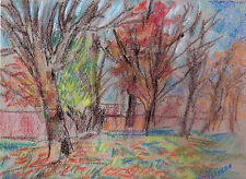 """""""PARK SCENE & YOUNG BOY"""" PASTEL 2 FOR 1"""" by Ruth Freeman  9"""" X 11 1/2"""""""