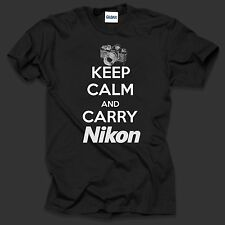Keep Calm And Carry Nikon T shirt Shirt Cool Photographer
